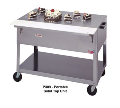 "Duke P310 58-3/8"" Portable Solid Top Steamtable w/ Carving Board & Fixed Brackets"