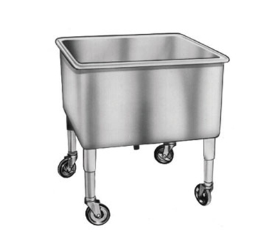 Duke SKS24 Portable Soak Sink w/ Casters, Stainless, 24x24x14""