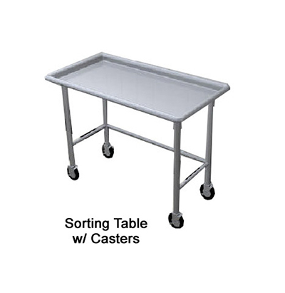Duke STI-60 60-in Island Sorting Table w/ Stainless Top, Legs & Feet