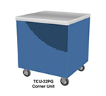 "Duke TCU-32PG 217101 32"" Mobile Corner Unit w/ Stainless Top & Paint Grip Body, Semi-Gloss Black"