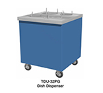 "Duke TDU-32PG 217101 32"" Mobile Dish Dispenser Unit w/ Paint Grip Enclosed Body, Semi-Gloss Black"
