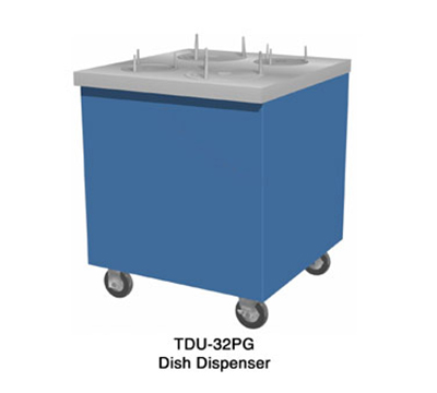 "Duke TDU-46SS 46"" Mobile Dish Dispenser Unit w/ Stainless Top & Body, Casters"