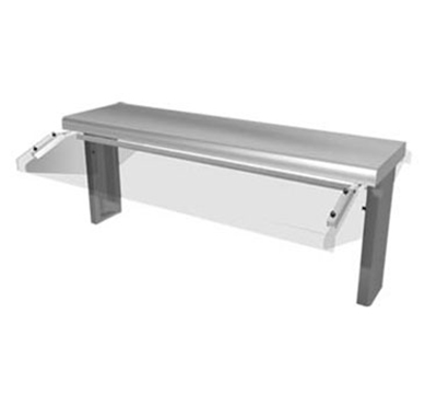 "Duke TS530-102-1SN 101.62"" Sneeze Guard, Single Service Buffet Style w. Acrylic End Guards"