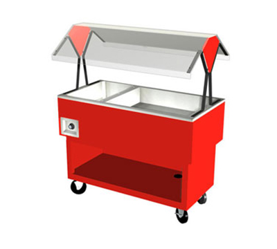 Duke OPAH-1H2C 2401 Hot/Cold Portable Buffet, (2) Ice Cold Pan & (1) Hot Well, 240/1 V