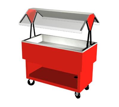 "Duke OPAH-3-CP 217101 44-3/8"" Cold Food Portable Buffet w/ (2) Cold Pan, Semi-Gloss Black"