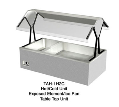 Duke TAH-2H2C 2401 Hot/Cold Table Top Buffet, (2) Ice Cold Pan & (2) Hot Well, 240/1 V