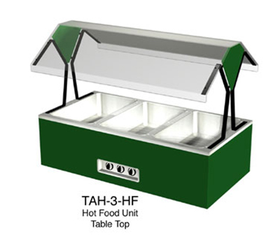"Duke TAH-3-HF 120 44-3/8"" Hot Food Table Top Buffet w/ (3) Hot Wells, Stainless Top, 120 V"