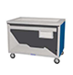 "Duke TCM-88PG 120 88"" Mobile Cold Food Unit w/ Paint Grip Body & Undershelf, D, 120 V"