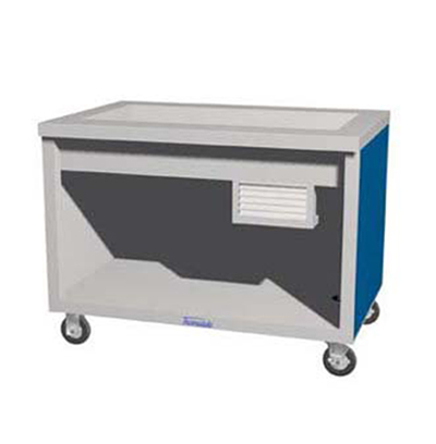"Duke TCM-32PG-N7 120 32"" Mobile Cold Food Unit w/ Paint Grip Body & Undershelf, 8"" D, 120 V"