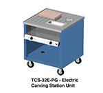 Duke TCS-32E-SS 120 Mobile Carving Station w/ 2-Heat Wells, Stainless Body & Undershelf, 120 V