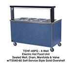 "Duke TEHF-74PG 2081 74"" Mobile Hot Food Unit w/ 1-Valve, Paint Grip Body & Undershelf, 208/1 V"