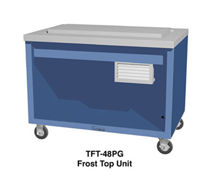 "Duke TFT-74PG 120 74"" Frost Top Unit w/ Drain, Paint Grip Body & Stainless Top, 120 V"