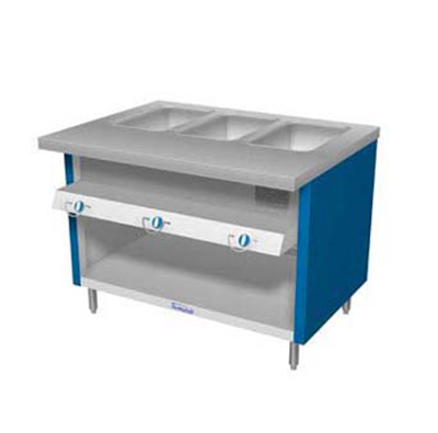 "Duke TGHF-74SS NG 74"" Hot Food Unit w/ 5-Dry Heat Wells & Water Pans, All Stainless, NG"