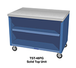 "Duke TST-46PG 217101 46"" Solid Top Unit w/ Stainless Top & Paint Grip Body, Semi-Gloss Black"