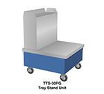 "Duke TTS-32SS 32"" Mobile Tray Stand Unit w/ Stainless Top, Utensil Tower, Body & Undershelf"
