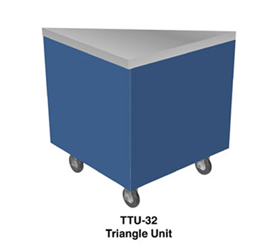 Duke TTU-45SS 32-in Triangle Unit w/ 45-Degree Corner, Stainless Enclosed Body
