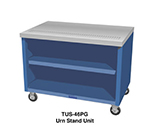 "Duke TUS-74SS 74"" Mobile Urn Stand Unit w/ 1"" Drain, 4"" Trough, All Stainless"