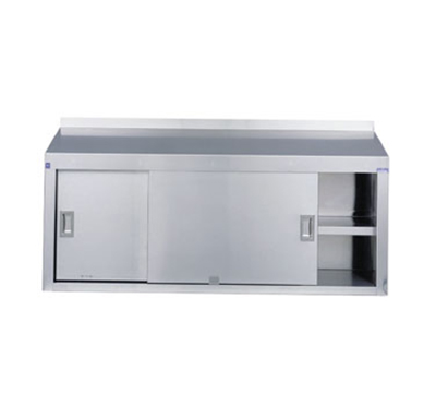 "Duke WCSS-60S 60"" Wall Mounted Stainless Cabinet, Enclosed Design w/ Sliding Doors"