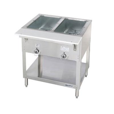 Duke E302 120 Aerohot Steamtable Hot Food Unit, 2 Wells & Carving Board, 120 V