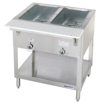 Duke E302 208 Aerohot Steamtable Hot Food Unit, 2 Wells & Carving Board, 208v/1ph