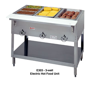 "Duke E302SW120 30.37"" Steamtable Hot Food Unit w/ 2-Wells, Infinite Control, 120 V"