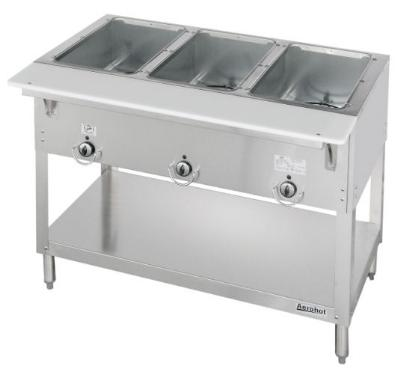 Duke E303 240 Aerohot Steamtable Hot Food Unit, 3 Wells & Carving Board, 240/1 V