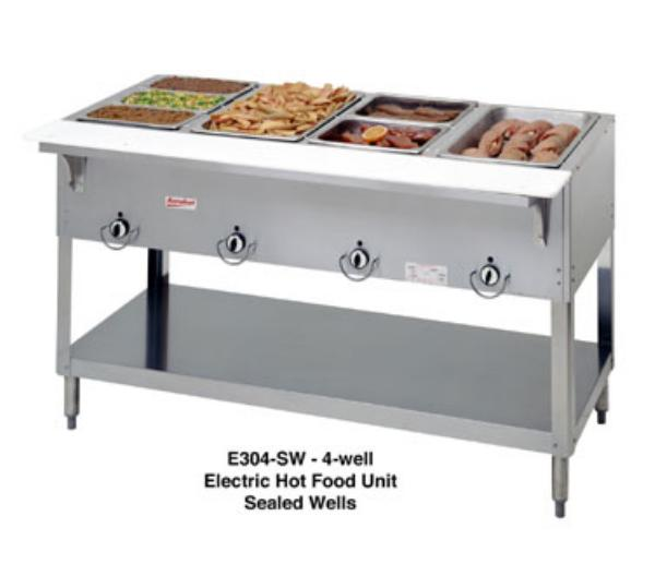 Duke E304SW Aerohot Steamtable Hot Food Unit, 4 Sealed Wells, 208 V