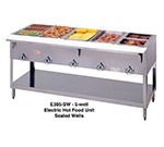 "Duke E305SW 72.37"" Steamtable Hot Food Unit w/ 5-Well & Infinite Control, 208/1 V"