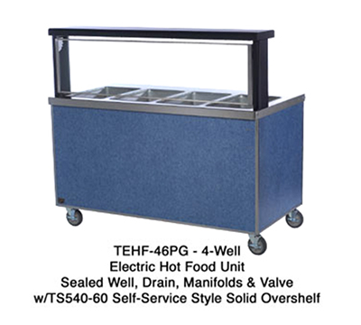"Duke TEHF-32SS 120 32"" Mobile Hot Food Unit w/ 2-Wells, All Stainless, 120 V"