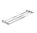 "Duke TS3BTS-HD-60 60"" Tubular Tray Slide for 4-Well Units w/ 3-Stainless Tubes"
