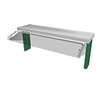 "Duke TS530-46-1SN 45.62"" Sneeze Guard, Single Service Buffet Style w/ Acrylic End Guards"