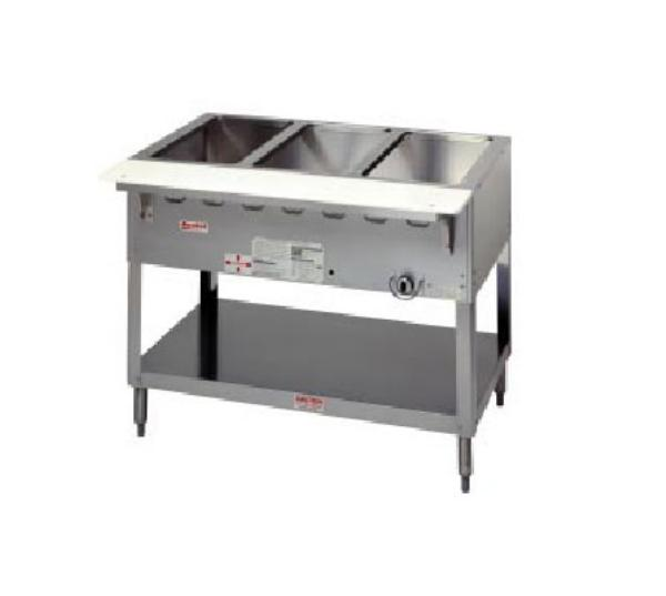 Duke WB303 NG Aerohot Steamtable Wet Bath Unit, 3 Pans & Carving Board, NG