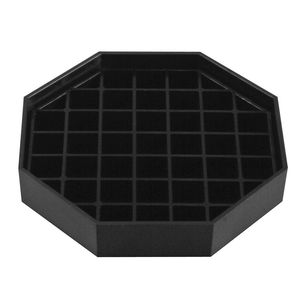 "Bar Maid CR-1451B 4.5"" Square Drip Catcher Trivet w/ Removable Grid, Black"