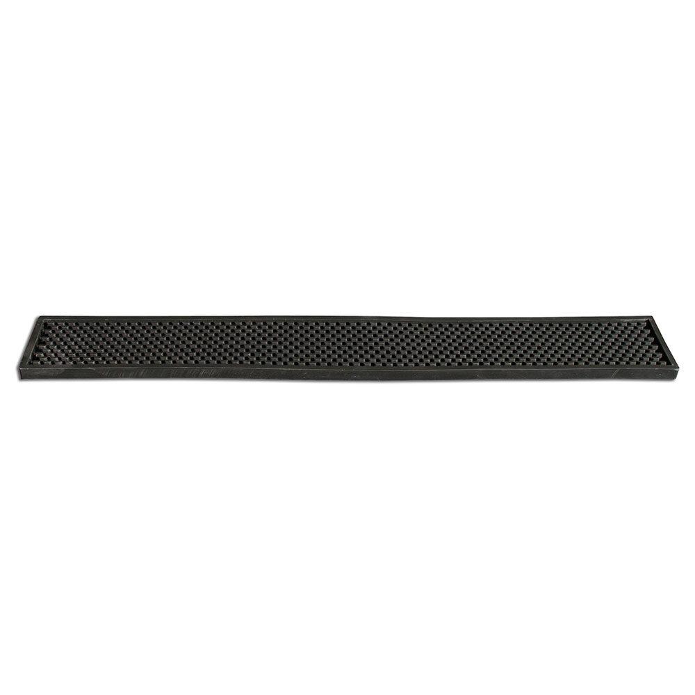 "Bar Maid CR-753BLK Bar Rail Mat - 24"" x 3"", Rubber, Black"