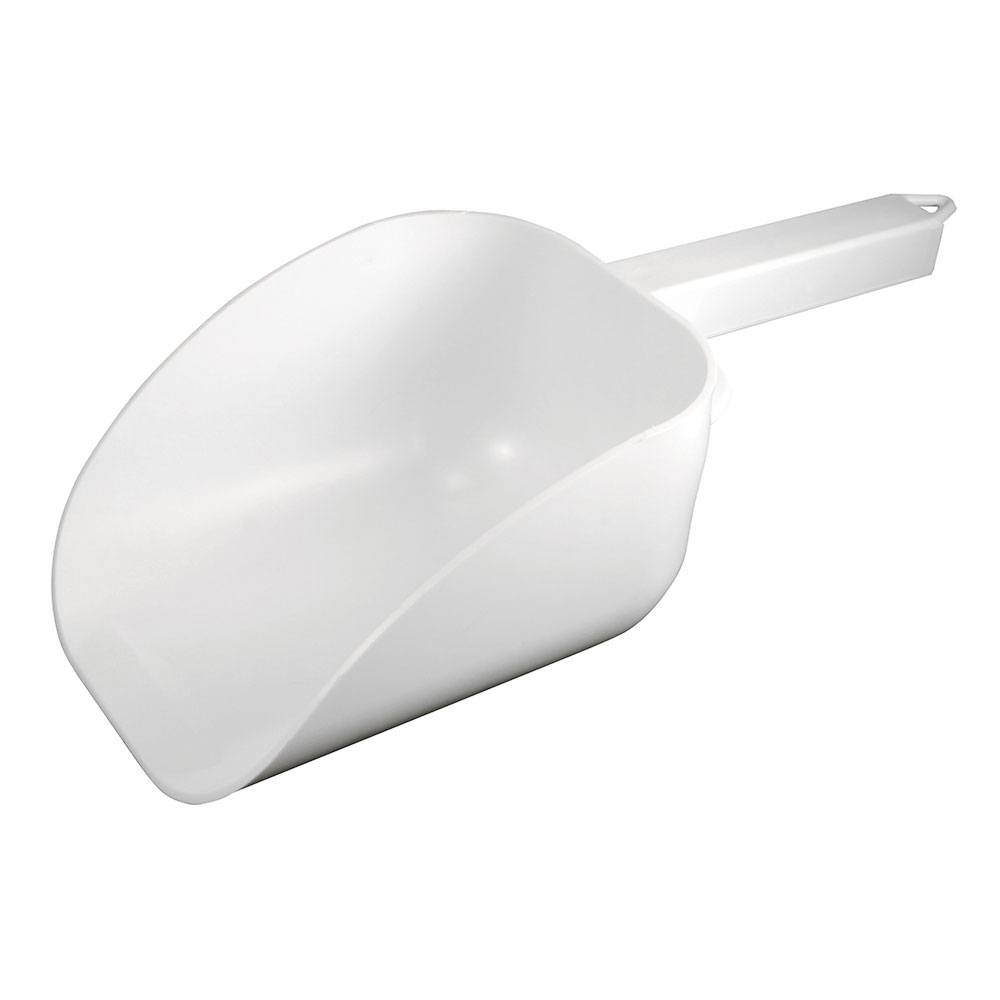 Bar Maid CR-838W 32-oz Scoop - Flat Bowl with Hook Handle, White