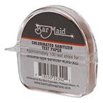 Bar Maid DIS-302 Sanitizer Test Strips Dispenser, Clorinated Strips, 100 Strips per Dispenser