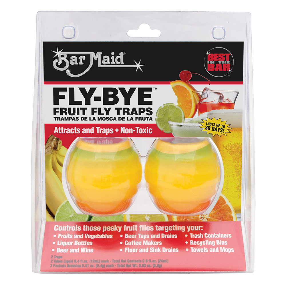 Bar Maid FLY-BYE Fly-Bye Fruit Fly Trap, Non-Toxic