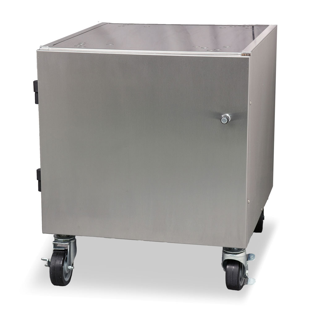 """Stoelting 4183513 22"""" x 24"""" Mobile Equipment Stand for Soft Serve Machines, Cabinet Base"""