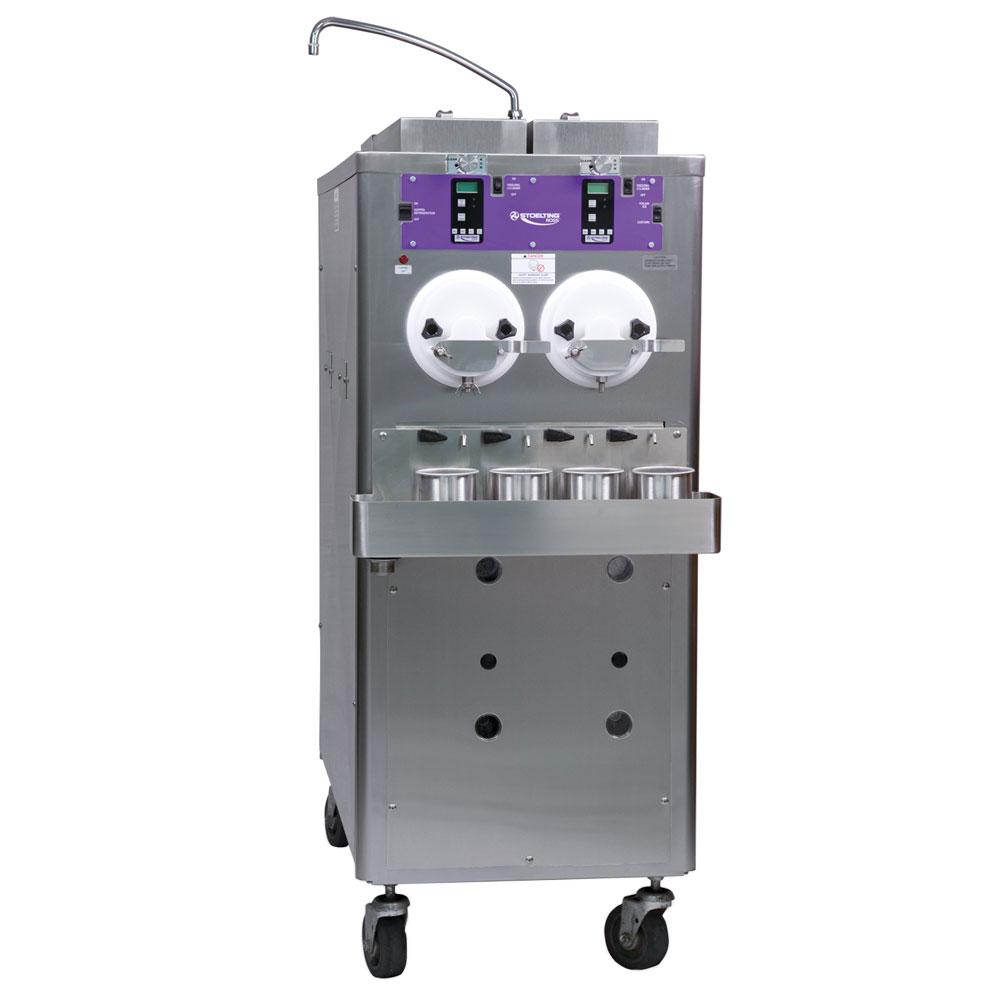 Stoelting CC202-18 Custard Freezer w/ (2) 6-gal Hopper, 2-Barrel, Water Cooled, 208-230/1 V