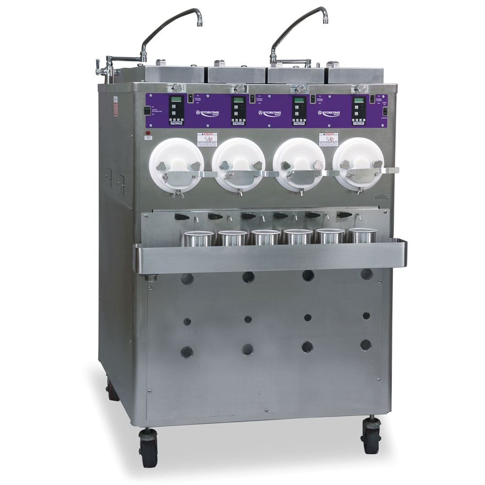 Stoelting CC404-109 Custard Freezer w/ (4) Hoppers,4-Barrel, Water Cooled, 208230/3 V
