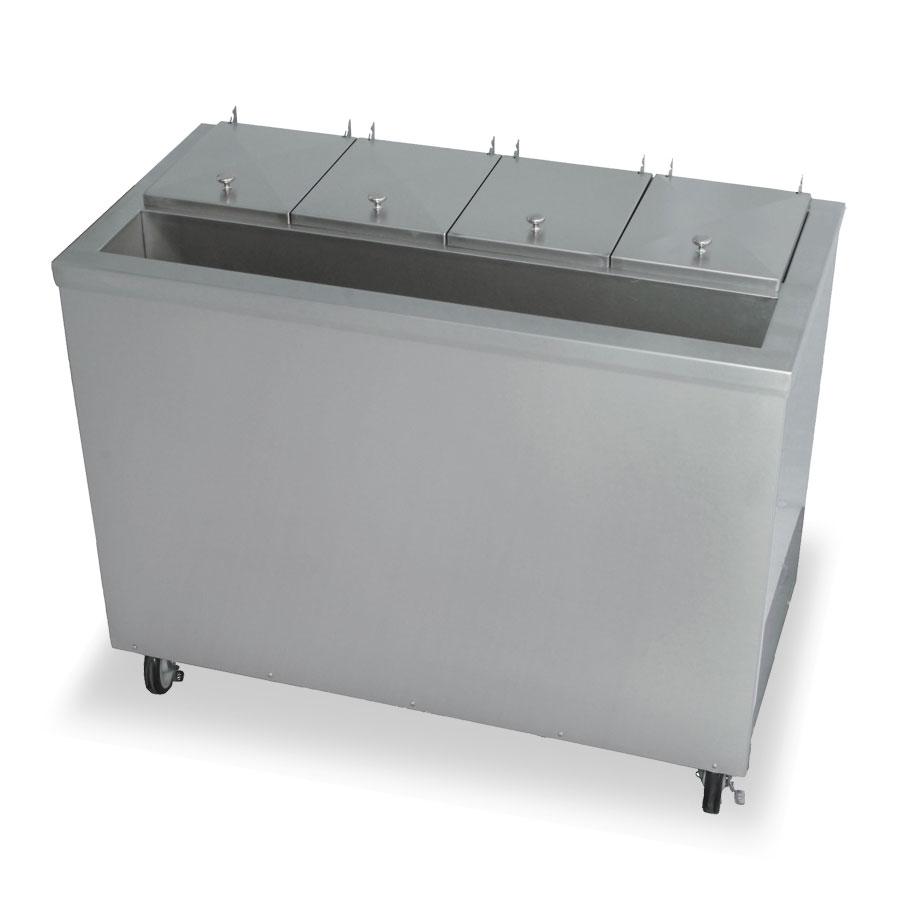 """Stoelting DC4-37 44.75"""" Mobile Ice Cream Freezer w/ 5-Tub Capacity, 115v"""