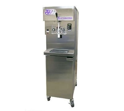 Stoelting O431-38 Soft Serve Freezer, Front Open Cabinet, (2) 22-qt Hopper, Air Cool, 208-230/1 V