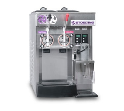 Stoelting SF144-38 Soft Serve Slush Freezer, (2) Flavor w/ (2) Valve, Air Cooled, 208-230/1 V