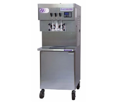 Stoelting U431-18 Soft Serve Freezer w/ (2) 8-gal Hoppers, Water Cool, 208-230/1 V