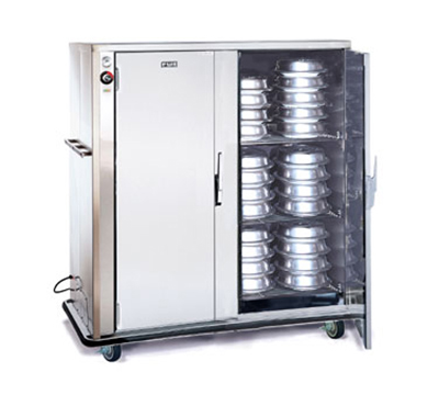 FWE - Food Warming Equipment A-120-2-XL220 A-Series Banquet Cart, 2-Door, 96-120-Plate Capacity, 12.375-in Max, 220/1V