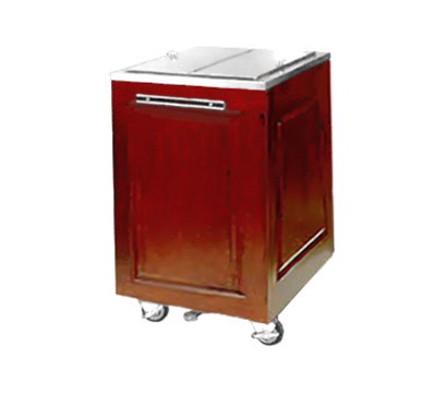 FWE AS-IC-200-MW Mobile Ice Bin w/ 200lb Capacity, Insulated, Stainless.