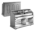 "FWE BBC-6 792407 Portable Bar 72""L w/ 60lb Cap. Ice Bin, Biltmore Cherry."