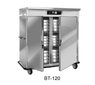 FWE BT-120220 BT-Series Banquet Cart, 2-Door, 96-120-Plate Capacity, 11-in Max, 220/1V