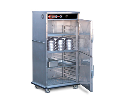 FWE - Food Warming Equipment BT-96120220 BT-Series Banquet Cart, 2-Door, 96-120-Plate Capacity, 10.5-in Max, 220/1V
