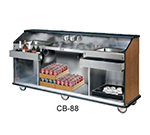 "FWE CB-6 793838 Conventional Portable Bar, 72""L, Stainless Int., New Age Oak."